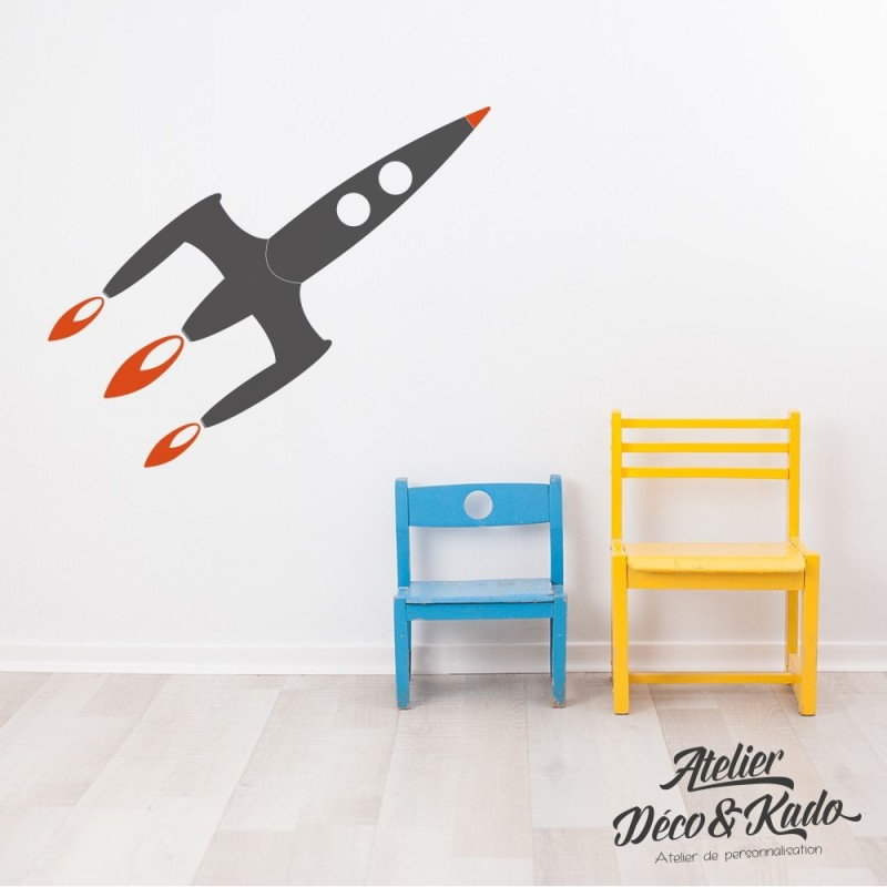 Stickers mural fusée
