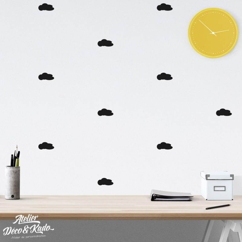 Kit de Stickers Muraux Nuages
