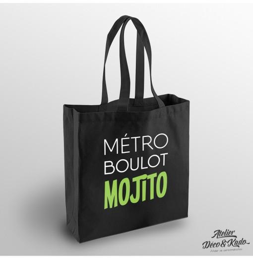 Sac shopping Métro Boulot Mojito Tote bag en coton certifié commerce équitable