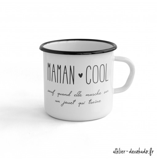 le mug c ramique maman cool atelier d co kado. Black Bedroom Furniture Sets. Home Design Ideas