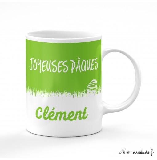 Un mug personnalisé pour les chocolats de Pâques