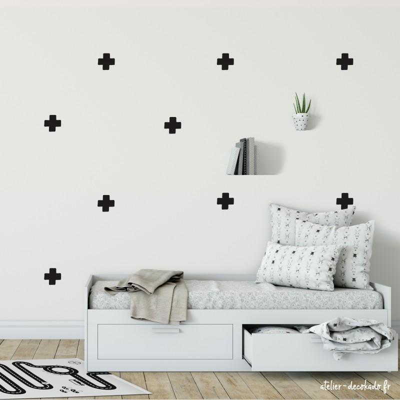 Kit de Stickers Muraux Plus inspiration scandinave couleur au choix