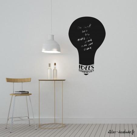 Sticker mural ardoise idées lumineuses