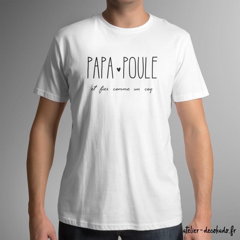 T-shirt homme Papa poule