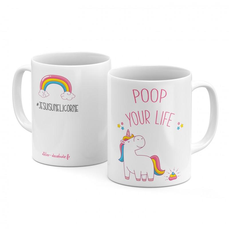 Le mug céramique licorne poop your life jesuisunelicorne