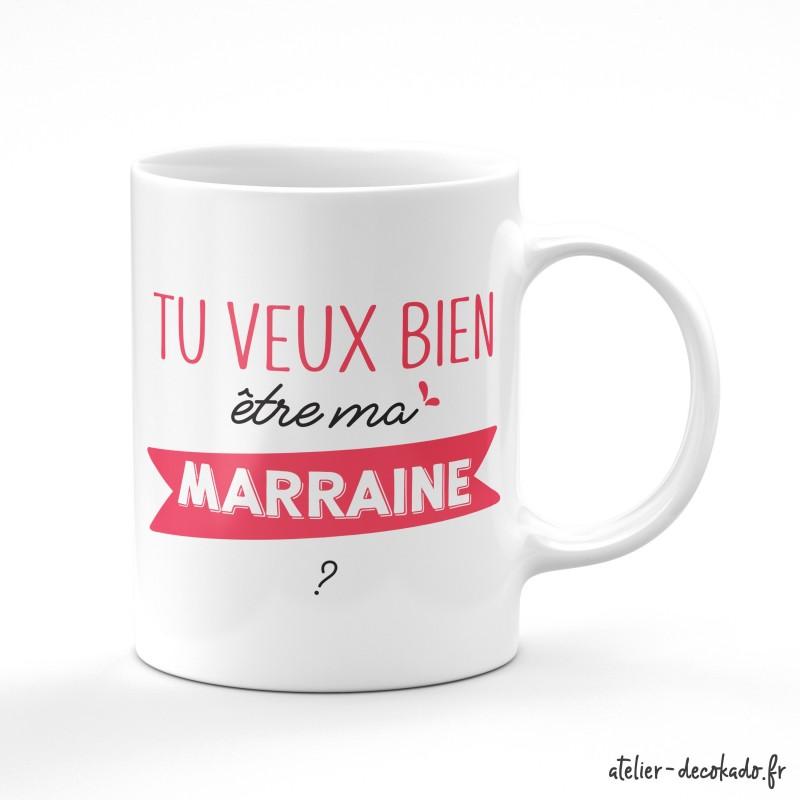 Le mug Tu veux bien être ma marraine