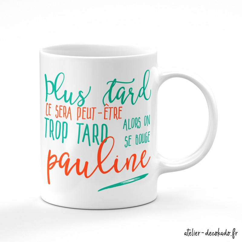 Mug anti-procrastination personnalisable