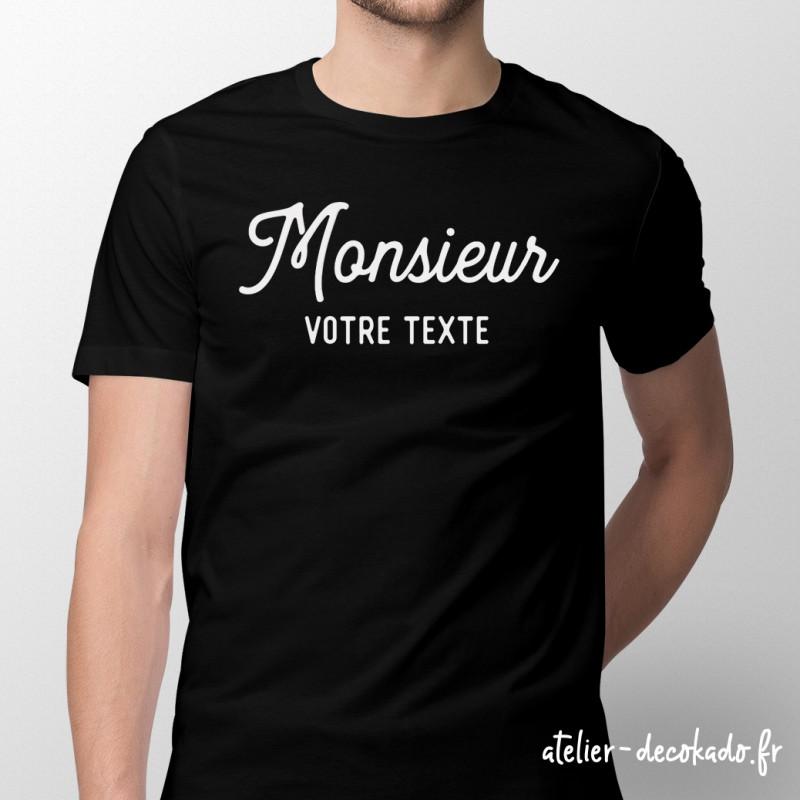T-shirt Monsieur Personnalisé - couleur noire