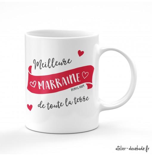 Le mug personnalisé - Meilleure marraine de toute la terre