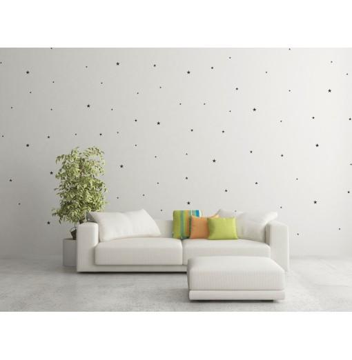 Planche de 76 stickers étoiles pour murs